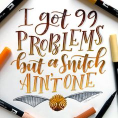 If you're having quidditch problems I feel bad for you son💁 (This was a prompt from last month's ) Harry Potter Brushes, Harry Potter Journal, Theme Harry Potter, Bullet Journal Ideas Pages, Bullet Journal Inspiration, Bujo, Brush Lettering Quotes, Tombow Usa, Calligraphy Letters