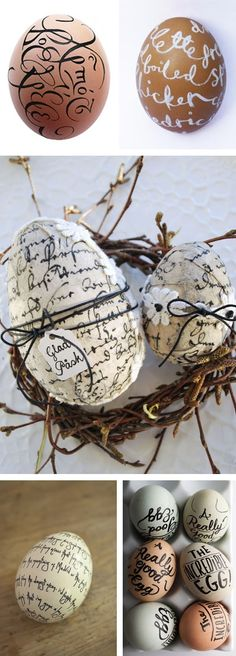 Wordy eggs, via Passion For Paper & Print