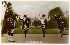 The Highland Fling old postcard