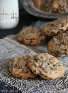 My Favorite Chocolate Chip Cookies.  Love these...they use mini chips, so there is loads of chocolate in every bite!