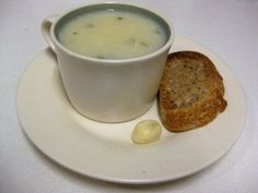 Slovak garlic soup comes in many varieties. Here I show you how to prepare the traditional one, consisting of basically mashed potatoes and, you guessed it, garlic. Slovak Recipes, Czech Recipes, Ethnic Recipes, Soup Recipes, Whole Food Recipes, Cooking Recipes, Pancake Recipes, Polish Recipes, Polish Food