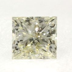 0.10 ctw Yellow-Y2 I2 Clarity 2.80x2.56x2.05 mm Princess Cut earth mine Diamond