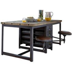 Astoria - Metal Desk with 2 Swing Seats | Desks | Dining Room