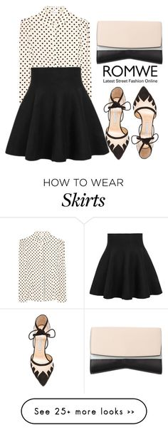 """""""Ruffle Skirt with Romwe: Contest Entry"""" by anniebananie-2 on Polyvore featuring RED Valentino, Bionda Castana and Narciso Rodriguez"""