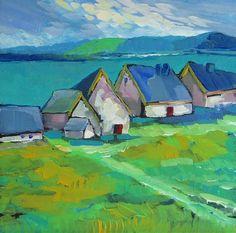 ۩۩ Painting the Town ۩۩ city, town, village & house art - Daniel Nie Landscape Art, Landscape Paintings, Love Art, Painting Inspiration, Amazing Art, Art Photography, Art Gallery, Artwork, Pictures