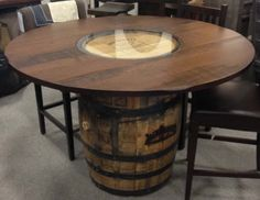 Jack Daniels Whiskey Barrel Table
