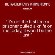 Response: well, most people don't let prisoners have knives to begin with, so it's kinda your own fault.