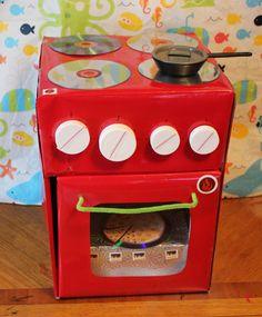 DIY cardboard kitchen stove