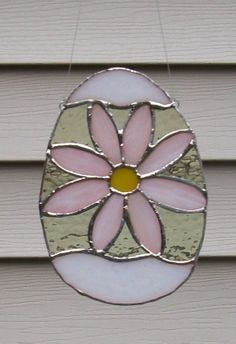 Stained Glass Easter Egg SuncatcherPretty in Pink