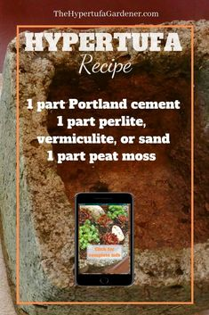 Basic Recipe for Hypertufa is a starting point for all your projects. you may need to tweak it as you learn and make your own projects. Succulent Gardening, Garden Planters, Organic Gardening, Container Gardening, Types Of Concrete, Garden Balls, Portland Cement, Peat Moss, Different Vegetables