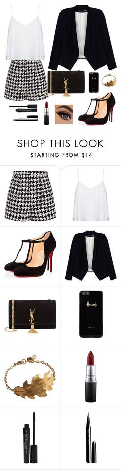 """""""Untitled #76"""" by bertuki21 ❤ liked on Polyvore featuring Emma Cook, Alice + Olivia, Christian Louboutin, Yves Saint Laurent, Harrods, MAC Cosmetics, Smashbox, Marc Jacobs, women's clothing and women"""