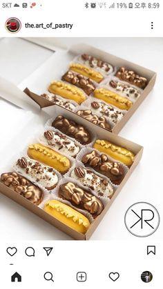 Cake Stall, Crochet Basket Pattern, No Bake Treats, Eclairs, Cupcake Ideas, Mini Cakes, Pastries, Donuts, Cake Decorating