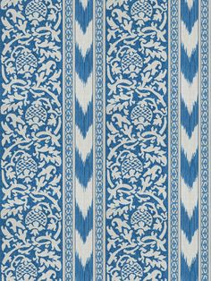 6980101 La Virte Blue by Vervain Designer Fabric Vervain Spring 2016 Cotton, Linen USA see fabric sample Horizontal: inches and Vertical: inches 54 inch min (See samples) - Swanky Fabrics - Traditional Fabric, Traditional Design, Fabric Decor, Fabric Design, Textile Design, Fabric Patterns, Print Patterns, Pattern Art, Sewing Patterns