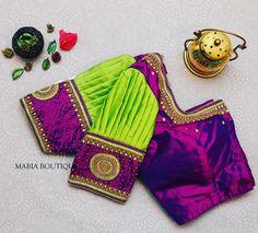 Latest Saree Blouse, Pattu Saree Blouse Designs, Blouse Designs Silk, Designer Blouse Patterns, Bridal Blouse Designs, Lehenga Blouse, Design Patterns, Blouse Back Neck Designs, Simple Blouse Designs
