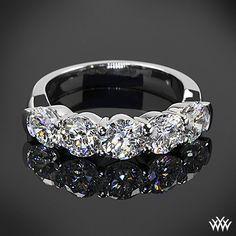 5 Stone Shared-Prong Diamond Wedding Ring #Whiteflash
