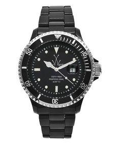 This Black Plateramic Bracelet Watch is perfect! #zulilyfinds
