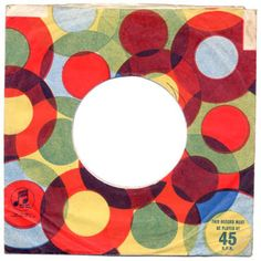 beautiful old 45 record sleeve - great palette