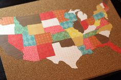 I love this for Vicki... as she gets recipes in from across the country we can pin where they come from... and we can decorate the states with food from those states...