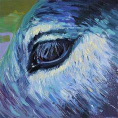 "Daily Paintworks - ""gray eye"" - Original Fine Art for Sale - © Beata Musial-Tomaszewska"