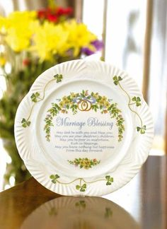 A Perfect Wedding Gift From Belleek Irish China Combining The Beauty Of This Handcrafted And Handpainted Piece With Traditional Blessing