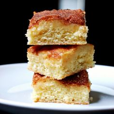 Gooey Cinnamon Squares from Smitten Kitchen Cookbook. Addicting, fabulous dessert.  Made w/ 1/2 & honey.  Eva Bakes