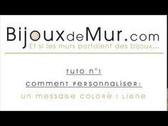 a2acfb61308e Personnaliser un « Message Coloré - 1 ligne » en fil de fer - Bijoux de mur