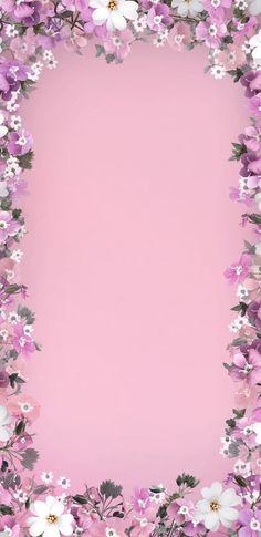 Floral Wallpaper Iphone, Flowery Wallpaper, Phone Screen Wallpaper, Framed Wallpaper, Flower Background Wallpaper, Cellphone Wallpaper, Flower Backgrounds, Aesthetic Iphone Wallpaper, Wallpaper Backgrounds