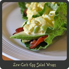 Low-Carb Egg Salad Wraps—Perfect use for those leftover hard boiled Easter eggs!