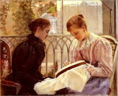 Gustave Krabansky (1852-1903) ~ Couseuses