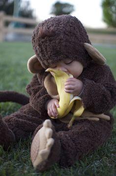 Cute little monkey!  ;<3 )