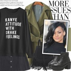 How To Wear Kanye or Drake Outfit Idea 2017 - Fashion Trends Ready To Wear For Plus Size, Curvy Women Over 20, 30, 40, 50