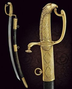 An officers sabre, Russia 19th century.