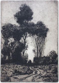 """Charles William Dahlgreen, """"On a Country Road #2"""", 1912."""