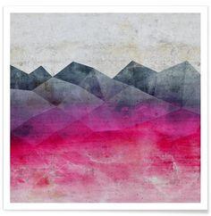 Pink Concrete as Premium Poster by cafelab | JUNIQE