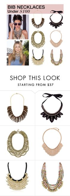 """""""Under $100: Bib Necklaces"""" by polyvore-editorial ❤ liked on Polyvore featuring Kenneth Jay Lane, Gemma Simone, BaubleBar, BERRICLE, under100 and bibnecklaces"""