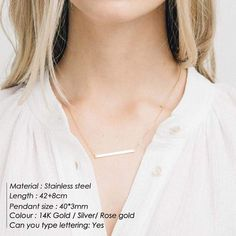 Stylish Simple Stainless Steel Korean Style Statement Necklace – klozetstyle.com Gold Chain Choker, Gold Chains, Rose Gold Color, Silver Color, Nameplate Necklace, Stainless Steel Necklace, Metal Necklaces, Jewelry Branding, Personalized Jewelry