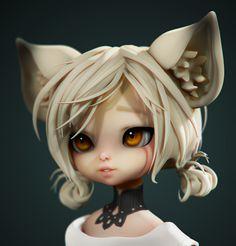ArtStation - B&S Lyn (fanart), Olya Anufrieva 3d Character Animation, 3d Model Character, Character Creation, Character Concept, Character Art, Character Design, Cute Characters, Fantasy Characters, Cool Anime Girl