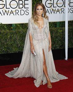 Jennifer Lopez at the 2015 Golden Globes in Zuhair Murad