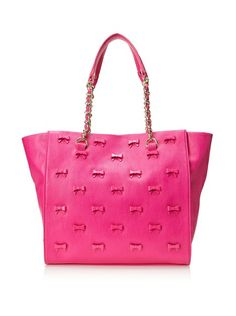 Betsey Johnson Women's Little Bow Chic Tote, Fuchsia, One Size