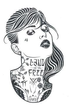 Ilustrações Preto e Branco de Adam Isaac Jackson | Abduzeedo Inspiração