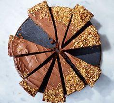 Chocolate hazelnut ice cream cheesecake by Barney Desmazery  in BBC Good Food Magazine