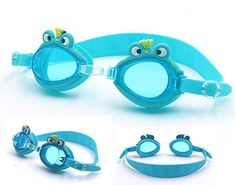 Fusicase Super Cute 3D FrogDolphinCrocodile Animal Shape Design Sillicone Kids Swim Swimming Goggles High Definition Waterproof Antifogging Googgles *** Want additional info? Click on the image.