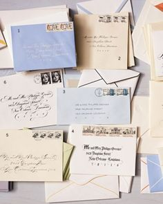 Rather than having your entire invitation suite hand-calligraphed (cha-ching!), focus on the first thing guests will see, and address to impress.