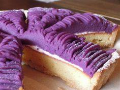 紫芋のタルト Purple sweet potato tart