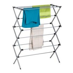 Dry your clothes anywhere with the Honey-Can-Do Oversize Folding Drying Rack. This portable rack gives you the freedom to air-dry in any room, inside or outside. When everything is dry it easily folds flat for storage. Drying Rack Laundry, Clothes Drying Racks, Clothes Dryer, Laundry Room Storage, Laundry Closet, Clothes Storage, Cleaning Closet, Laundry Hamper, Laundry Rooms