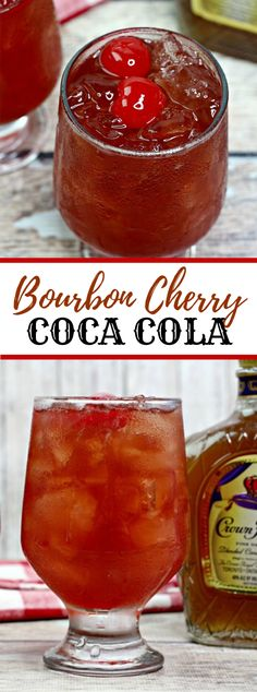 Whiskey Cherry Coke is a brisk and tasty mixed drink you can make with only four fixings. Burbon Drinks, Bourbon Mixed Drinks, Bbq Drinks, Bourbon Cocktails, Whiskey Drinks, Cocktail Drinks, Healthy Drinks, Scotch Whiskey, Irish Whiskey