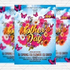 Mothers Day - Premium Flyer Template + Facebook Cover http://www.exclusiveflyer.com/product/mothers-day-premium-flyer-template-facebook-cover-4/