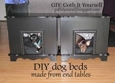 GIY: Goth It Yourself: DIY Dog Beds from End Tables