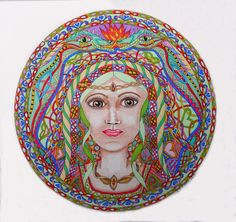 Cerridwen by SandyEvans Drawing S, Art Drawings, Celtic Art, Evans, My Arts, Dragon, Deviantart, Face, Artwork