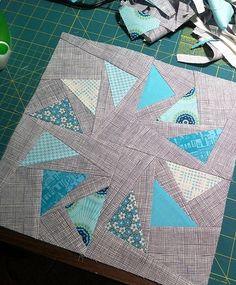 Curvy Pinwheels Quilt Block | FaveQuilts.com                                                                                                                                                                                 More